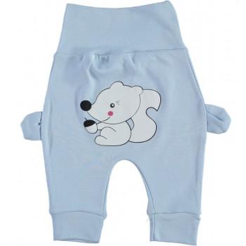 Штанишки Белчонок Голубые Интерлок 62 68 74 80 размер для мальчиков до года