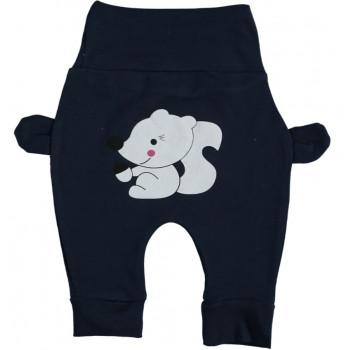 Штанишки Белчонок Темно-синие Интерлок 62 68 74 80 размер для мальчиков до года