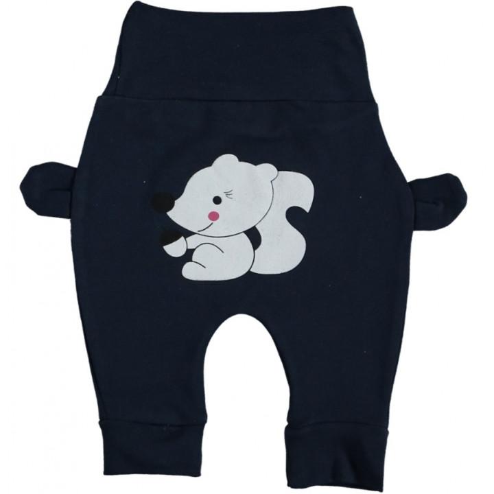 Штанишки Белчонок Темно-синие Интерлок 62 74 размер для мальчиков до года
