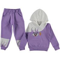 Комплект Flower Kids Фиолетовый Футер 92 104 116 128 размер на девочку 1-2, 3-4, 5-6, 7-8 лет