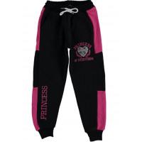Спортивные штаны Princess Трехнитка Черно-красные 122 128 134 140 размеры на девочку 7-8-9-10 лет