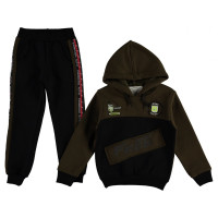 Зимний костюм Babali Хаки Трехнитка для мальчиков 92 98 104 110 116 122 128 134 размеры