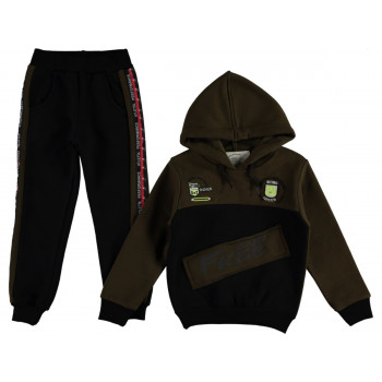 Зимний костюм Babali Хаки Трехнитка для мальчиков 92 98 104 110 116 134 размеры