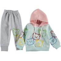 Теплый комплект одежды Baby Lux Мятно-серый 68 74 80 86 размер на девочку 6-9, 9-12, 12, 18 месяцев