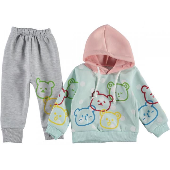 Теплый комплект одежды Baby Lux Мятно-серый 68 80 86 размер на девочку 6-9, 12, 18 месяцев