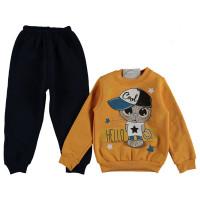 Комплект Yoyo Kids Желто-черный Двунитка с начесом 74 80 92 98 размер на мальчика 9 месяцев, 1-2-3 года