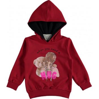 Худи Alg Kids Красная Двунитка 98 104 110 116 размер на девочку 3-4-5-6 лет