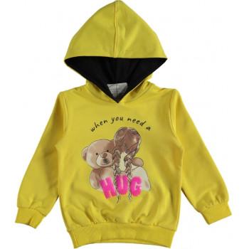 Худи Alg Kids Желтая Двунитка 98 104 116 размер на девочку 3-4-5-6 лет