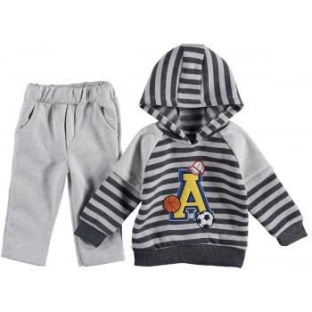 Комплект Спорт Серо-черный Трехнитка 92 размер на мальчика 2 года