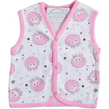 Тонкая жилетка Dodo Baby Молочно-розовая 74 размер на девочку 6-9  месяцев