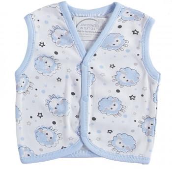 Тонкая жилетка Молочно-голубая 68  80 размеры на мальчика 3-6, 9-12 месяцев