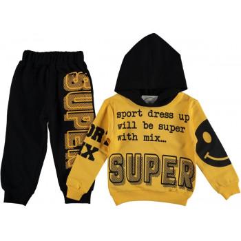 Комплект Super Желто-черный Двунитка 92 размер на мальчика 2 года