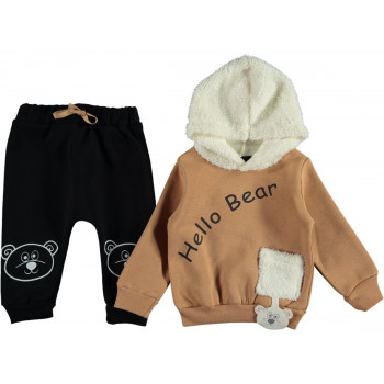 Комплект Hello Bear Черно-коричневый Трехнитка 92 размер на мальчика 2 года