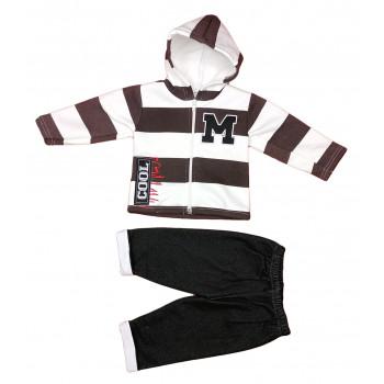 Теплый (ткань трехнитка) комплект одежды 92 размеры для мальчика Cool коричневый