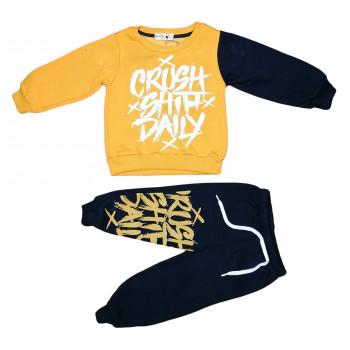 Теплый (ткань трехнитка) желто черный комплект одежды 92 98 104 110 размеры Crush