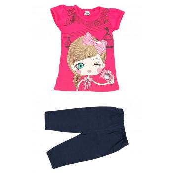 Летний комплект одежды для девочек Селфи