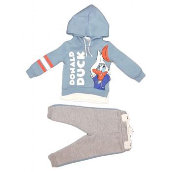 Теплый (ткань трехнитка) комплект одежды Дональд Дак для мальчиков Размеры 92 98 104 110