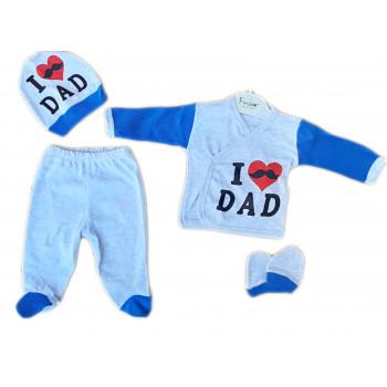Набор одежды в роддом 56 размера Люблю Папу новорожденным мальчикам