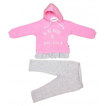 Теплый (ткань трехнитка) комплект одежды для девочек 74 80 86 размеры Me Mory
