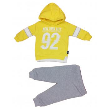Теплый (ткань трехнитка) желтый комплект одежды 80 86 92 98 размеры New York City