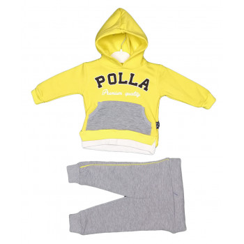 Теплый (ткань трехнитка) желтый комплект одежды 74 80 92 размеры Полла