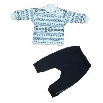 """Зимний меховой комплект одежды """"Люкс"""" для малышей"""