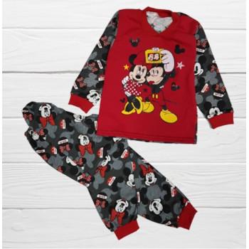 Пижама Микки Маус Красная Кулир  110 - 116 - 122 размеры