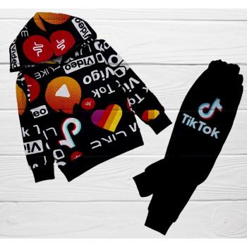 Спортивный костюм Тик Ток детский, двунитка, 110 116 размеры