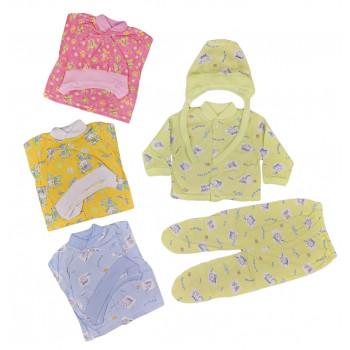 Цветные летние комплекты для малышей (56 62 размеры, кулир)