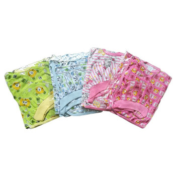 Летние цветные дешевые комплекты (чепчик, кофта, ползунки на резинке) для младенцев 56 размера