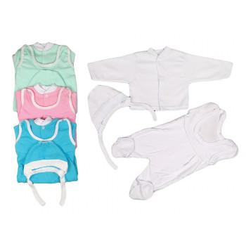 Комплекты в роддом: чепчик, высокие ползунки, кофта для новорожденных