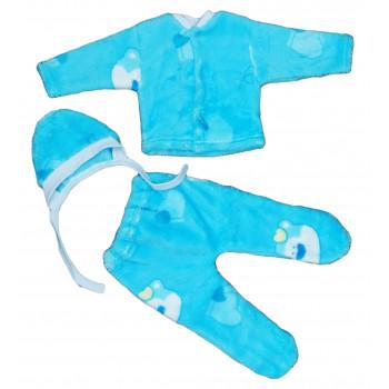 Зимние из велсофта комплекты одежды 56 размеры для новорожденных мальчиков Мишка
