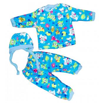 Теплые из велсофта комплекты одежды 56 62 размеры для малышей Котик
