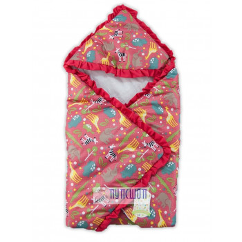 """Летний конверт-одеяло """"Африка"""" для новорожденных Размер одеяла 70*70 см"""