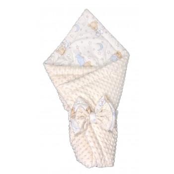 """Демисезонный плюшевый конверт-плед """"Минки"""" 75*75 см для новорожденных"""