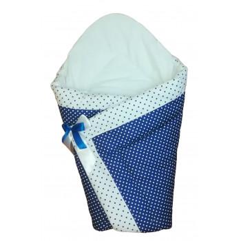 """Зимний конверт одеяло на выписку """"Горошинка"""". Размер одеяла 90*90 см"""