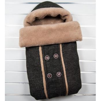"""Зимний конверт одеяло """"Джон"""" Состав: шерсть, цигейка, синтепон"""