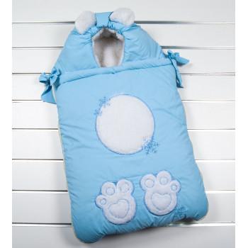 """Зимний конверт одеяло """"Мишаня"""" новорожденным мальчикам"""