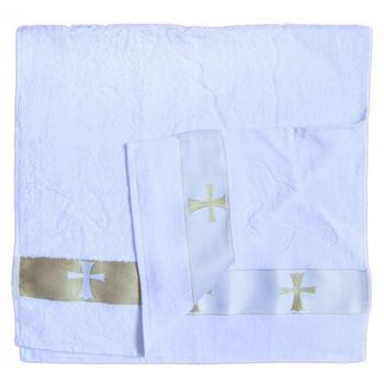 Махровое крестильное полотенце размером 90*47 см