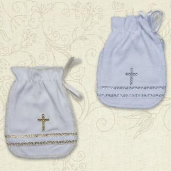 Велюровые мешочки для первого локона малыша. В наличии цвет с золотом
