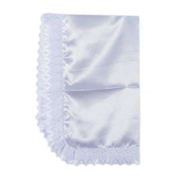 Маленькая белая крыжма для крещения из ткани атлас
