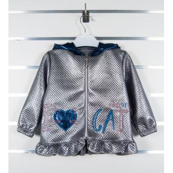 """Тонкая детская куртка ветровка на девочку 86 92 98 размеры """"Love Cat"""""""