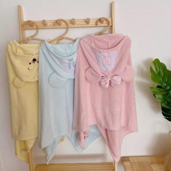Детские полотенца с капюшоном (микрофибра, 70*140 см размер)