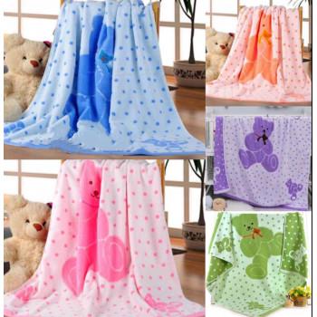 Махровое большое полотенце 110*120 см для детей