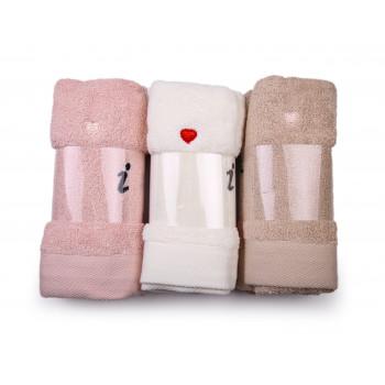Махровые маленькие полотенца 35*75 см Love