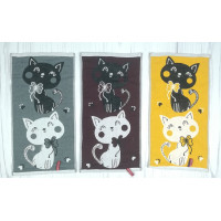 Кухонные полотенца из льна с котами. Размеры - 25*50 см