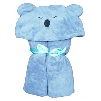 Детское банное полотенце с капюшоном 75*150 см