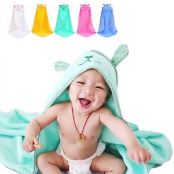 """Махровые полотенца детские с капюшоном """"Мишка"""" Размер 85*85 см"""