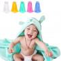 """Махровые полотенца детские с капюшоном """"Мишка"""" для новорожденных Размер 85*85 см"""