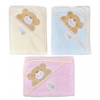 Махровые полотенца с уголком для малышей